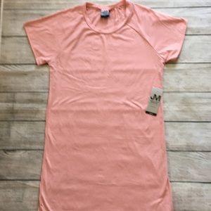 NWT Jonathan Martin T Shirt Dress Solid Pink M
